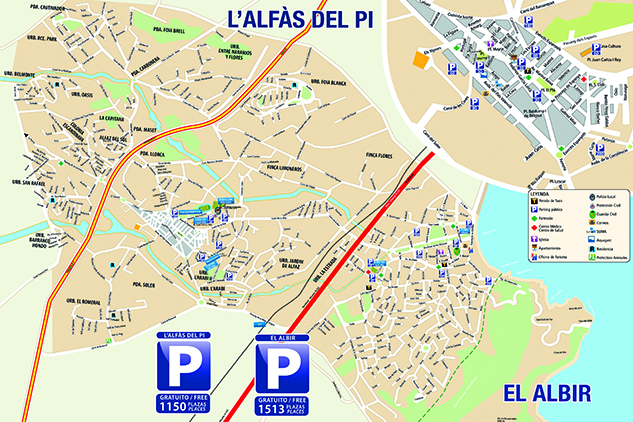 Mapa plazas de parking